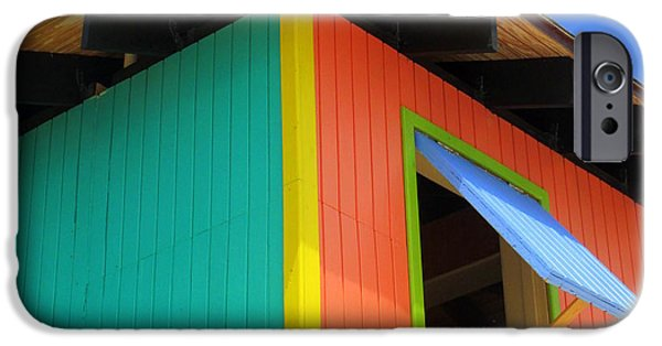 Cabin Window iPhone Cases - Caribbean Corner 1 iPhone Case by Randall Weidner