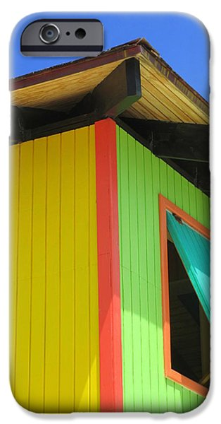 Cabin Window iPhone Cases - Caribbean Corner 2 iPhone Case by Randall Weidner