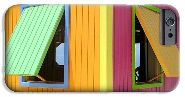 Cabin Window iPhone Cases - Caribbean Corner 3 iPhone Case by Randall Weidner