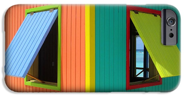 Cabin Window iPhone Cases - Caribbean Corner 4 iPhone Case by Randall Weidner