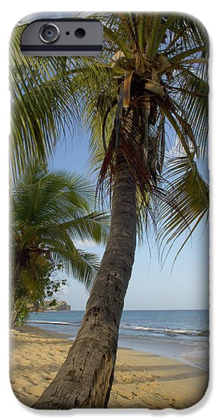 Nation iPhone Cases - Caribbean, Magazine Beach Grenada iPhone Case by Chris Parker
