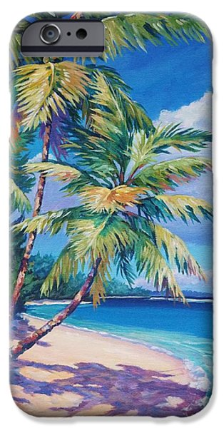 Cuba iPhone Cases - Caribbean Paradise iPhone Case by John Clark