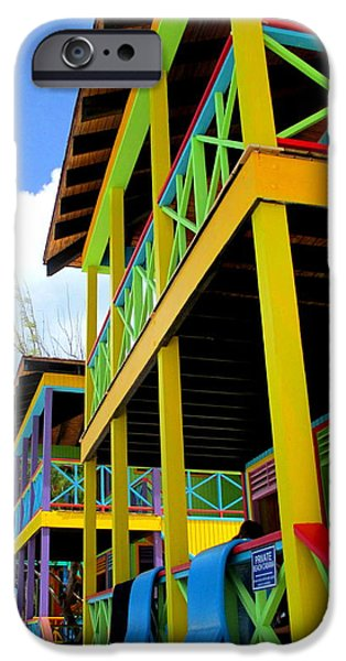 Cabin Window iPhone Cases - Caribbean Porches iPhone Case by Randall Weidner