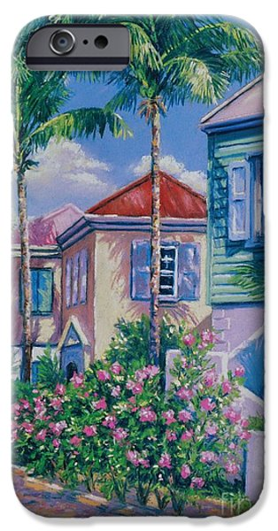 Caribbean Architecture iPhone Cases - Caribbean Style   9x13 iPhone Case by John Clark