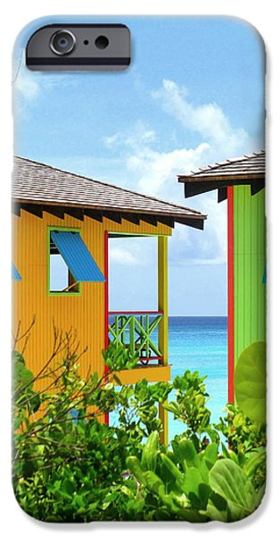 Cabin Window iPhone Cases - Caribbean Village iPhone Case by Randall Weidner
