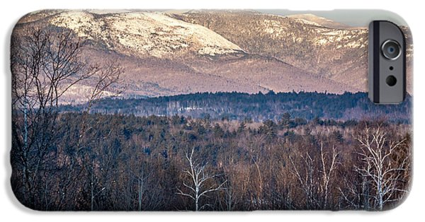 Winter In Maine iPhone Cases - Caribou-Speckled Mountain Wilderness iPhone Case by Susan Cole Kelly