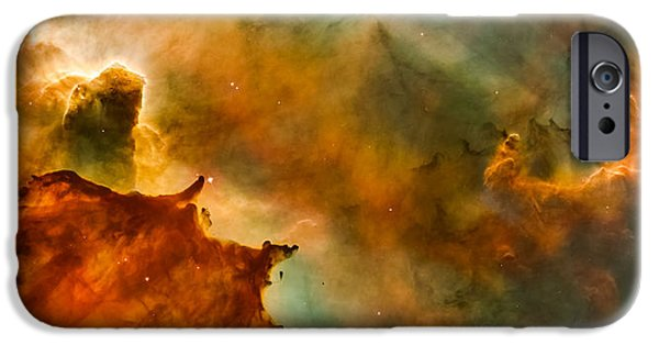 Stellar iPhone Cases - Carina Nebula Details - Great Clouds iPhone Case by Marco Oliveira