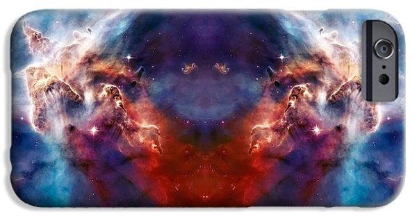 Nebula Photograph iPhone Cases - Carina Nebula Pillar 2 iPhone Case by The  Vault - Jennifer Rondinelli Reilly