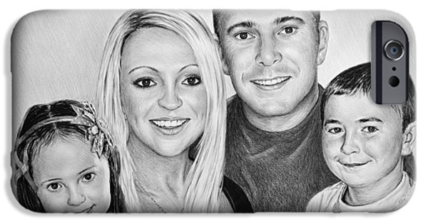 Little Girl iPhone Cases - Carlie Neil Alisha and Ben iPhone Case by Andrew Read