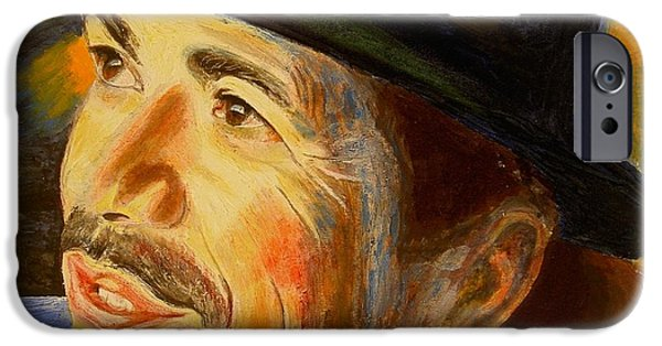 Young Paintings iPhone Cases - Carlos iPhone Case by Bonifacio Sulprizio