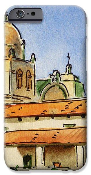 Carmel By The Sea - California Sketchbook Project  iPhone Case by Irina Sztukowski