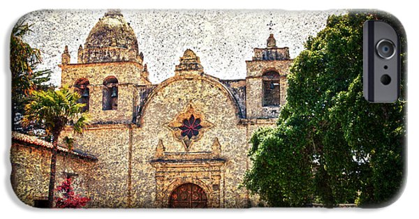 Impressionist Photography iPhone Cases - Carmel Mission iPhone Case by RicardMN Photography
