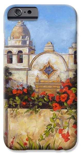 Carmel Mission iPhone Case by Shelley Cost