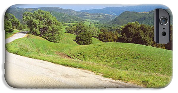 Agricultural iPhone Cases - Carmel Valley Road, Route G20 iPhone Case by Panoramic Images