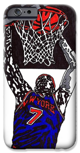 Carmelo Anthony iPhone Case by Jeremiah Colley