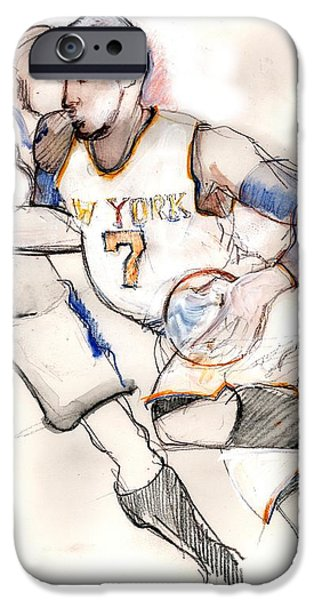 Knicks iPhone Cases - Carmelo iPhone Case by Carolyn Weltman