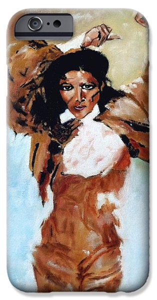 Duchess iPhone Cases - Carmen Amaya iPhone Case by Manuel Sanchez