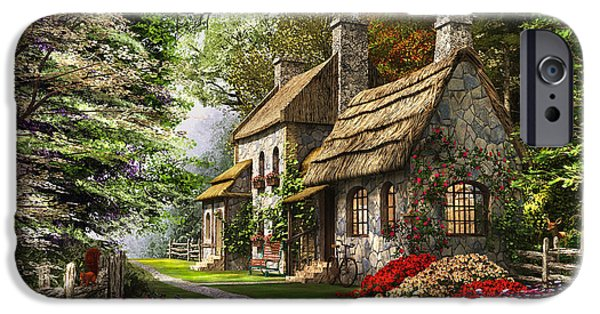 Pathway iPhone Cases - Carnation Cottage iPhone Case by Dominic Davison
