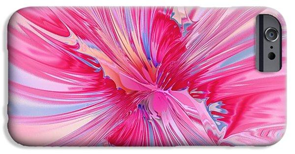 Floral iPhone Cases - Carnation Pink iPhone Case by Anastasiya Malakhova