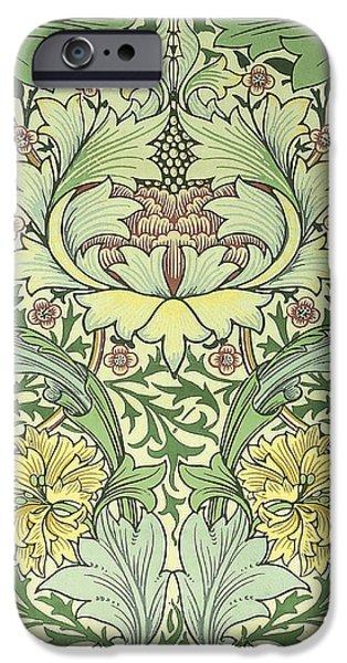 Carnations Design iPhone Case by William Morris