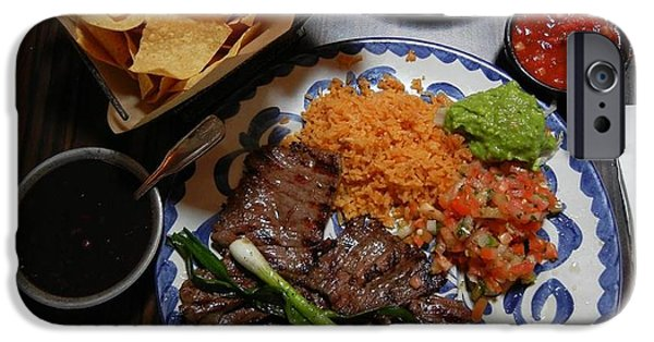 Chip iPhone Cases - Carne Asada Dinner iPhone Case by Jaynie Jones