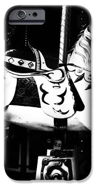 Carnival Carousel in Mono iPhone Case by Nomad Art And  Design