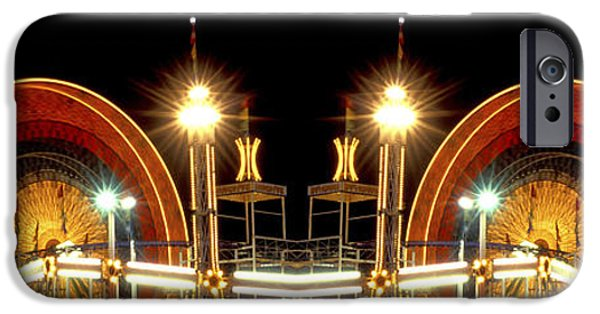 Impressions Of Light iPhone Cases - Carnival Light patterns at night iPhone Case by Paul W Faust -  Impressions of Light