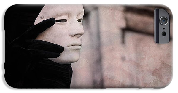 Portrait Of Evil iPhone Cases - Carnival of Venice -- Ghost - tell me everything 2 by Zina Zinchik iPhone Case by Zina Zinchik