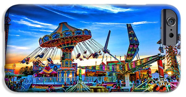 Gathering Photographs iPhone Cases - Carnival iPhone Case by Olivier Le Queinec