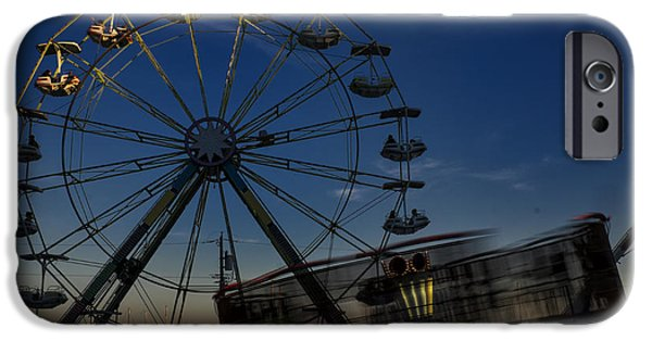 Recently Sold -  - Independance Day iPhone Cases - Ferris Wheel and Carnival Rides at Dusk iPhone Case by John Franco