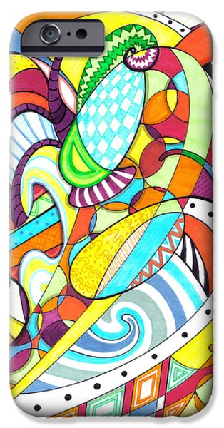 Youthful Mixed Media iPhone Cases - Carnival  iPhone Case by Shawna  Rowe