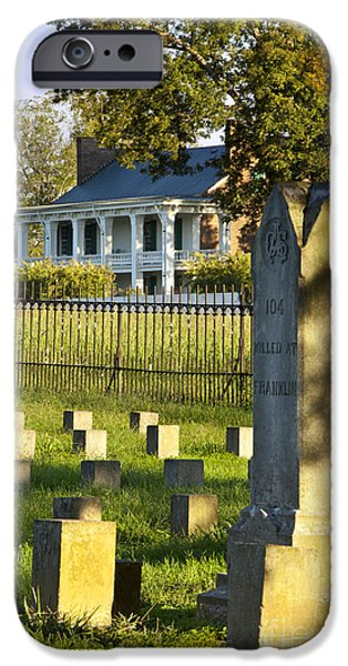 Headstones iPhone Cases - Carnton Plantation iPhone Case by Brian Jannsen