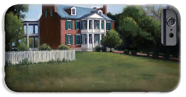 Drawing Of Franklin Tennessee iPhone Cases - Carnton Plantation in Franklin Tennessee iPhone Case by Janet King