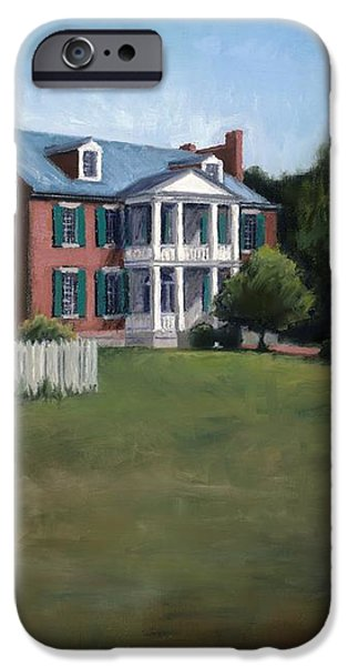 Carnton Plantation in Franklin Tennessee iPhone Case by Janet King