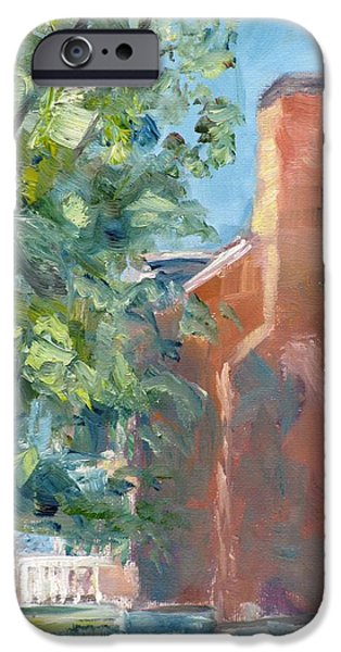 Carnton Plantation on a Spring Morning iPhone Case by Susan E Jones