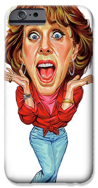 Comedian iPhone Cases - Carol Burnett iPhone Case by Art