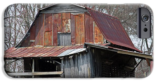 Old Barn Poster Photographs iPhone Cases - Carolina Barn iPhone Case by Suzanne Gaff