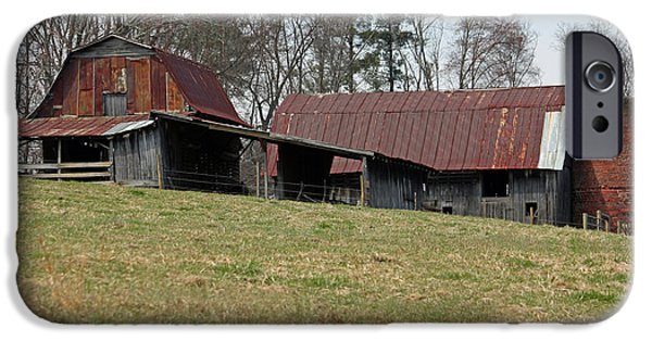 Barn Poster Photographs iPhone Cases - Carolina Barns and Silo II iPhone Case by Suzanne Gaff