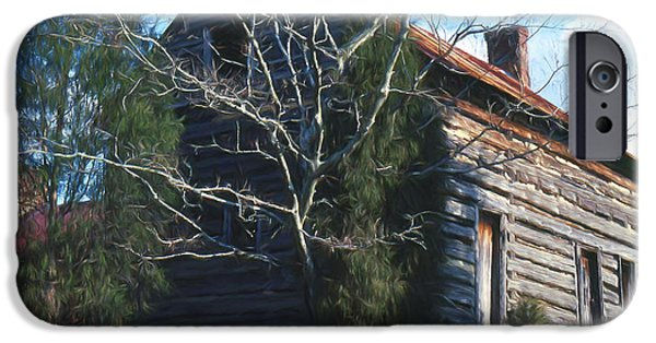 Log Cabin Mixed Media iPhone Cases - Carolina Cabin iPhone Case by Richard Rizzo