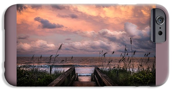 Pathway iPhone Cases - Carolina Dreams iPhone Case by Karen Wiles