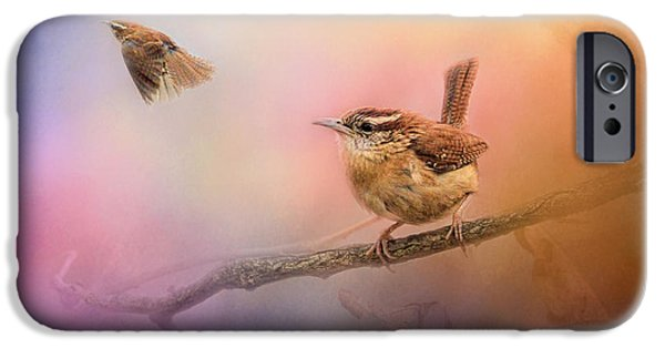 Wren iPhone Cases - Carolina Wrens iPhone Case by Jai Johnson