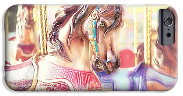 Little Girl Photographs iPhone Cases - Carousel  iPhone Case by Amy Tyler