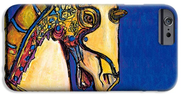 Carousel Horse Paintings iPhone Cases - Carousel Horse iPhone Case by Dale Moses