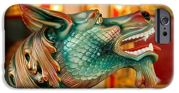 Serpent iPhone Cases - Carousel Seahorse iPhone Case by Sabrina L Ryan