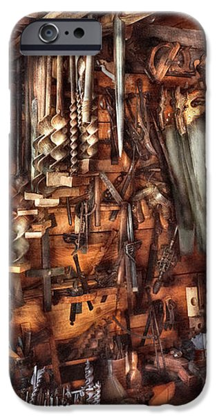 Carpenter - That's a lot of tools  iPhone Case by Mike Savad
