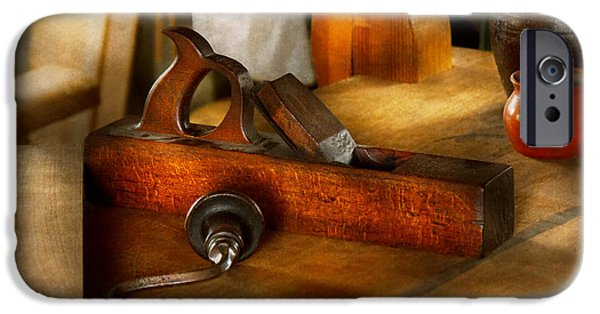 Work Tool iPhone Cases - Carpenter - The humble shop plane iPhone Case by Mike Savad