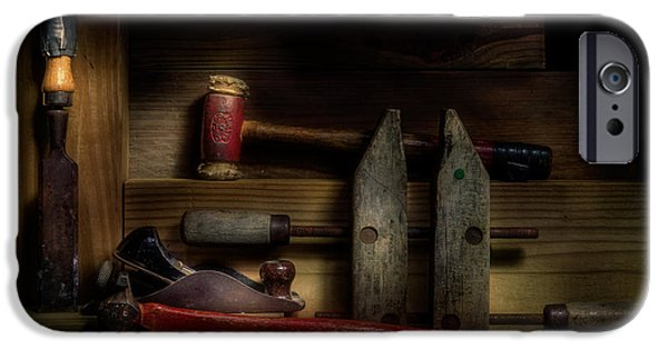 Antiques iPhone Cases - Carpentry Still Life iPhone Case by Tom Mc Nemar