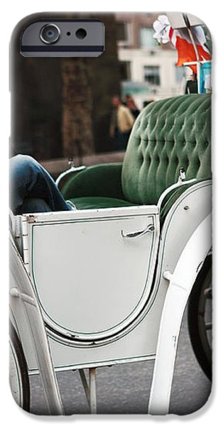 Carriage Ride in Central Park iPhone Case by John Rizzuto