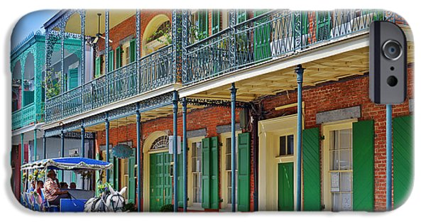 Drawn iPhone Cases - Carriage Ride New Orleans iPhone Case by Christine Till