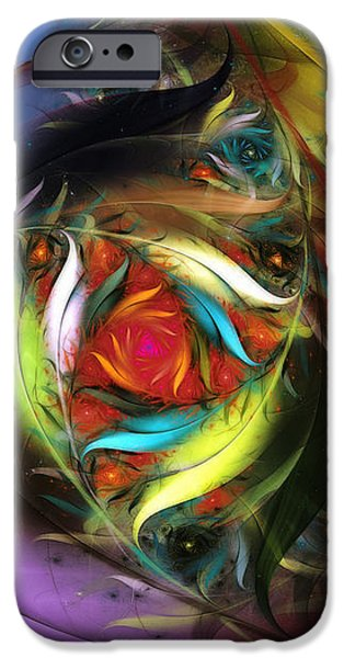 Carribean Nights-Abstract Fractal Art iPhone Case by Karin Kuhlmann